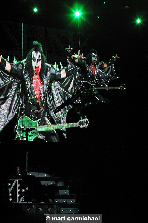 CHICAGO -- September 26: Kiss opens for Aerosmith at the second to last date on their co-heading tour in Chicago, Illinois at the Tweeter Center. (Photo by Matt Carmichael)