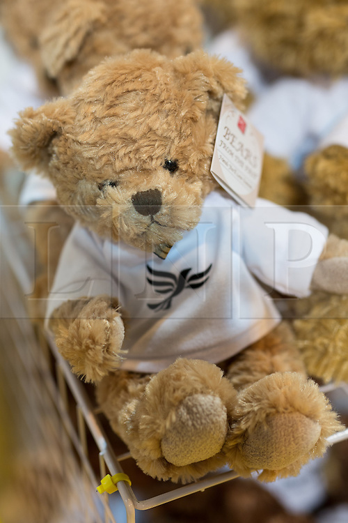 © Licensed to London News Pictures . 04/10/2014 . Glasgow , UK . Teddy bears for sale in the exhibition hall at the conference . The Liberal Democrat Party Conference 2014 at the Scottish Exhibition and Conference Centre in Glasgow . Photo credit : Joel Goodman/LNP