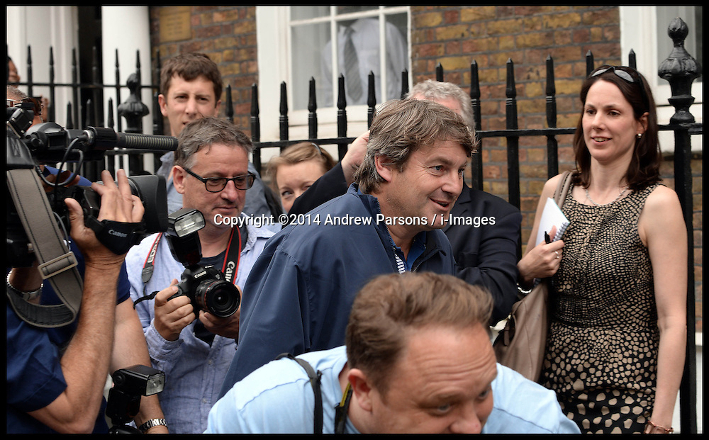 Image ©Licensed to i-Images Picture Agency. 26/06/2014. London, United Kingdom. Charlie Brooks  comes home before he and Rebekah make a statement on the Phone hacking verdict outside her house in London. Picture by Andrew Parsons / i-Images