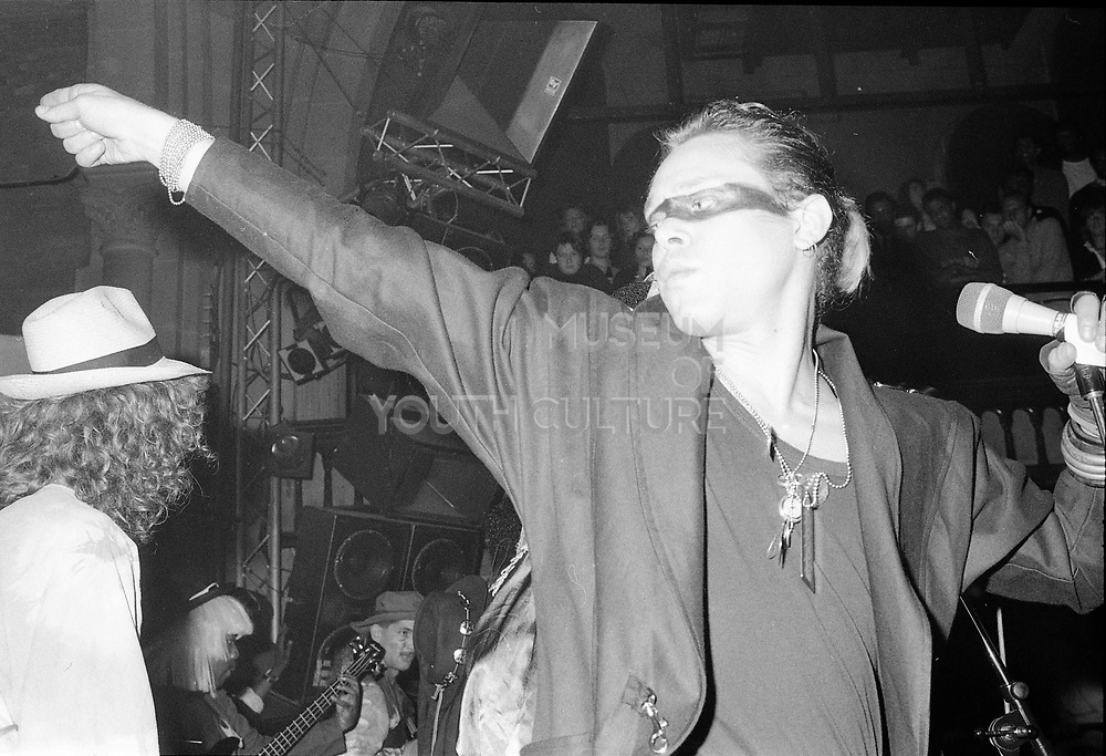 Singer at the Limelight Club, London, UK, 1980s.