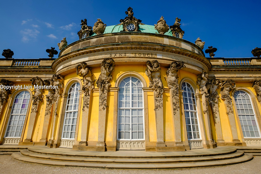 Palace at Sanssouci in Potsdam Berlin Germany