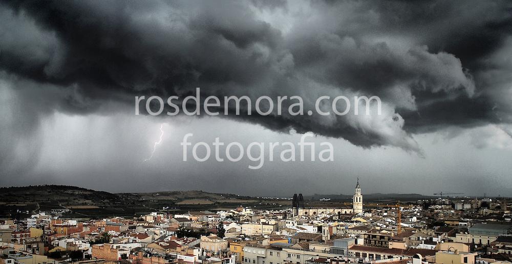 Tormenta sobre Vilafranca