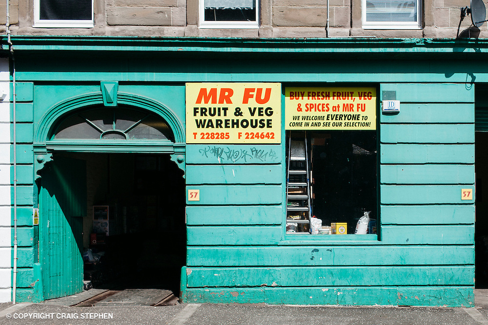 The List Magazine / Dundee City Council - Dundee Larder publication food / environmental photography.<br /> <br /> Mr Fu Fruit &amp; Veg warehouse, Gellatly Street, Dundee.