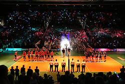 20160424 NED: Play off finale Abiant Lycurgus - Seesing Personeel Orion, Groningen<br />Opkomst spelers voor aanvang wedstrijd