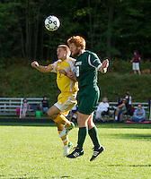Boys varsity soccer Bow versus Hopkinton September 11, 2012.  (Karen Bobotas/for the Concord Monitor)