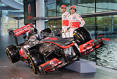 JAN 31 2013 Jenson Button and Checo Perez with new F1 car