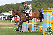 Major Gold riding Simply Smart during the International Horse Trials at Chatsworth, Bakewell, United Kingdom on 11 May 2018. Picture by George Franks.