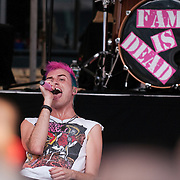 Tyler Glenn of Neon Trees performs during a free 104.5 Block Party held at the Piazza at Schmidt's in Philadelphia.