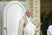 Rome jan 25th 2015, the pope leads the ceremony for the 48th week of prayer for christians unity. In the picture Pope Francis