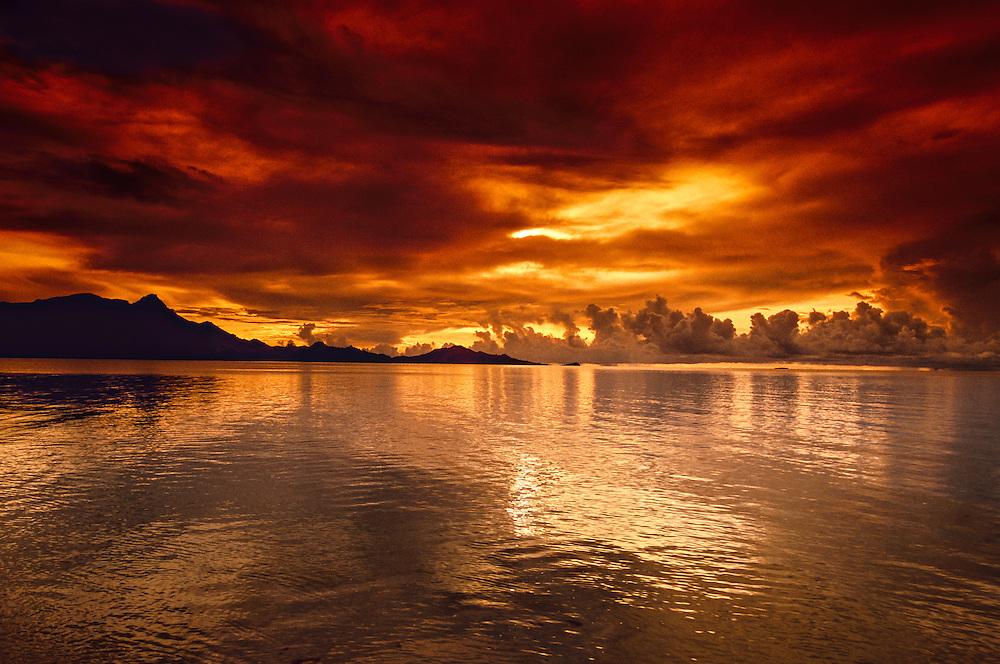Sunset from Nukubati Island Resort, Fiji Islands