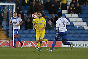 AFC Wimbledon midfielder Chris Whelpdale (11) during The Emirates FA Cup 1st Round match between Bury and AFC Wimbledon at the JD Stadium, Bury, England on 5 November 2016. Photo by Stuart Butcher.