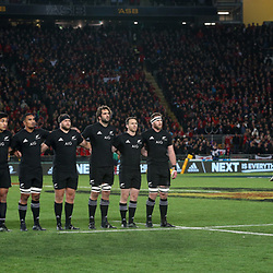 All Black&rsquo;s during game 7 of the British and Irish Lions 2017 Tour of New Zealand, the first Test match between  The All Blacks and British and Irish Lions, Eden Park, Auckland, Saturday 24th June 2017<br /> (Photo by Kevin Booth Steve Haag Sports)<br /> <br /> Images for social media must have consent from Steve Haag