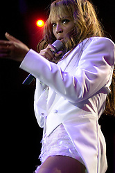 Beyonce Knowles on her Dangerously In Love 2003 UK tour at Sheffields Hallam FM Arena<br /> <br /> 7 November 2003<br /> <br /> Image &copy; Paul David Drabble <br /> www.pauldaviddrabble.co.uk