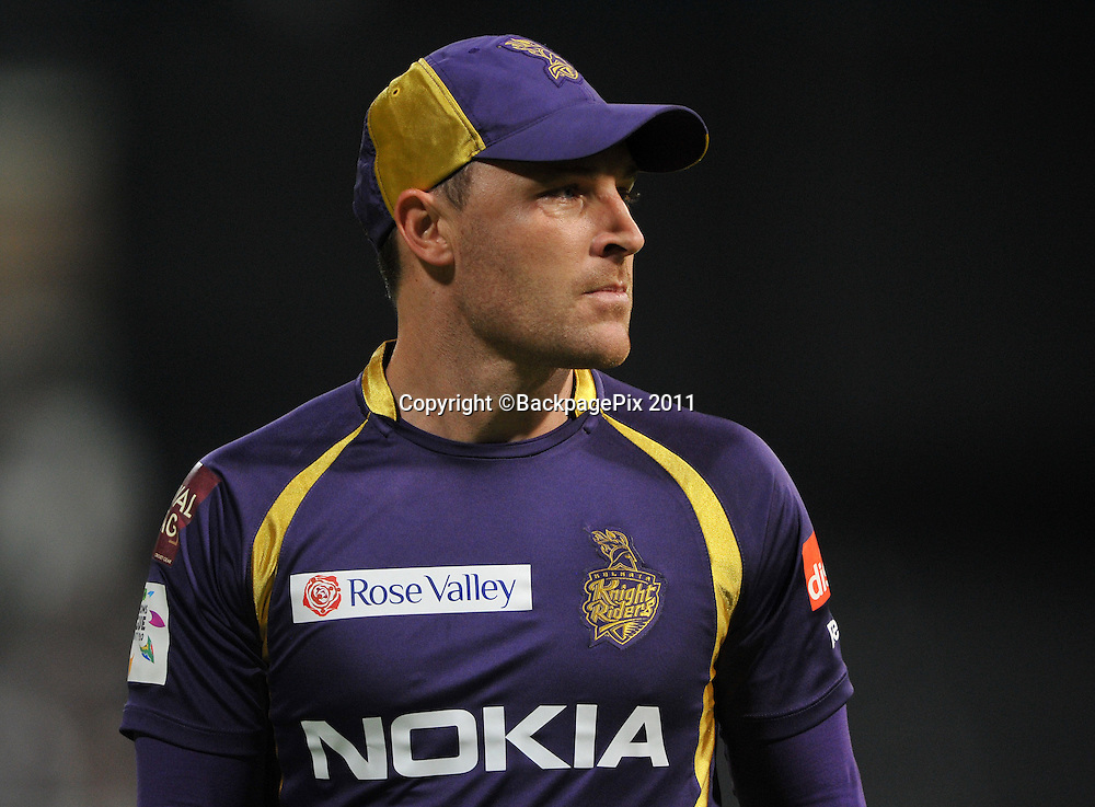Brendon McCullum of the Kolkata Knight Riders during the 2012 Champions League Twenty20 cricket match between the Kolkata Knight Riders and the Titans at Newlands in Cape Town on 21 October 2012 ©Ryan Wilkisky/BackpagePix