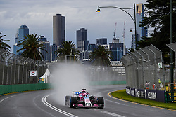 March 24, 2018 - Melbourne, Victoria, Australia - 11 PEREZ Sergio (mex), Force India F1 VJM11, action during 2018 Formula 1 championship at Melbourne, Australian Grand Prix, from March 22 To 25 - s: FIA Formula One World Championship 2018, Melbourne, Victoria : Motorsports: Formula 1 2018 Rolex  Australian Grand Prix, (Credit Image: © Hoch Zwei via ZUMA Wire)