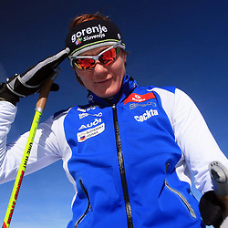 20081022: Cross-Country - Practice of Petra Majdic and Slovenian team at Dachstein (AUT)
