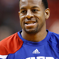 21 January 2012: Philadelphia Sixers small forward Andre Iguodala (9) warms up prior to the Miami Heat 113-92 victory over the Philadelphia Sixers at the AmericanAirlines Arena, Miami, Florida, USA.