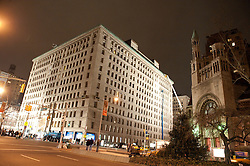 Apthorp apartment building at night in New York City