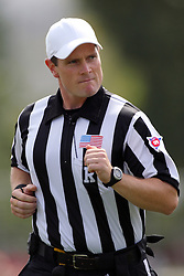 15 September 2012:  Referee Kerry Ripley during an NCAA football game between the Eastern Illinois Panthers and the Illinois State Redbirds at Hancock Stadium in Normal IL