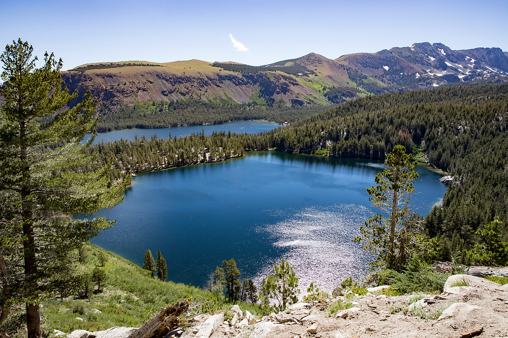 Vistas from the Crystal Lake hike provide views of Lake Mary, Lake George, the Twin Lakes and even Horseshoe Lake
