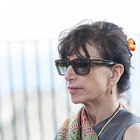 Judith Thurman, <br /> Le Conversazioni, Capri, Italy, 4 July 2015<br /> <br /> Photograph by Steve Bisgrove/Writer Pictures<br /> <br /> WORLD RIGHTS