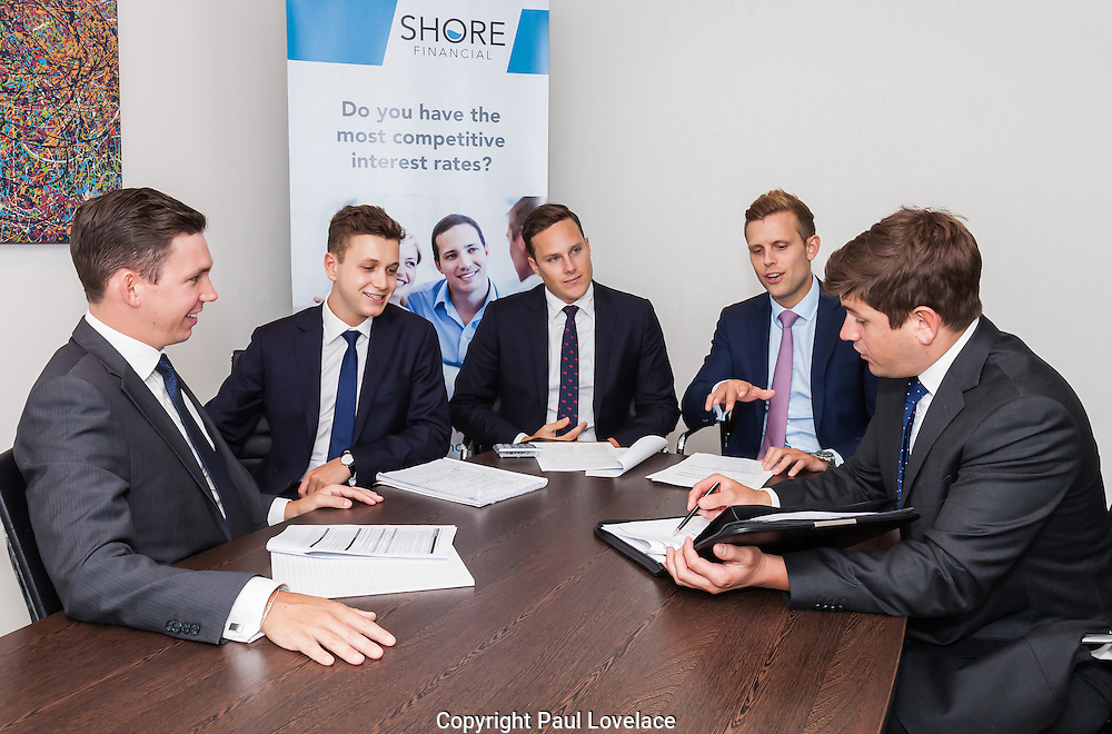 Corprorate boardroom discussion shots for a financial company, North Sydney.