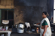 Cooking in a traditional kitchen in Kariakudi, Tamil Nadu