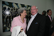 MRS. GERALD HARRIS, private view  of new exhibition by Tim Stoner , Alison Jacques Gallery in new premises in Berners St., London, W1 ,Afterwards across the rd. at the Sanderson Hotel. 3 May 2007. DO NOT ARCHIVE-© Copyright Photograph by Dafydd Jones. 248 Clapham Rd. London SW9 0PZ. Tel 0207 820 0771. www.dafjones.com.