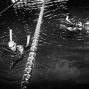 Competition de natation assistée, aux Jeux Nationaux Special Olympics 2017 d'Italie, pour handicappés mentaux, à Biella