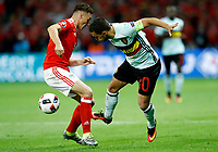 James Chester (Wales) and Eden Hazard (Belgium) <br /> Lille 01-07-2016 Stade Pierre Mauroy Football Euro2016 Wales - Belgium / Galles - Belgio <br /> Quarter-finals. Foto Matteo Ciambelli / Insidefoto