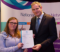 Sean Kyne TD Minister of State for Community Affairs, Natural Resources and Digital Development, presenting certificate to  Nicole Conneely with  QQI level2 in  Health Related Exercise and Horticulture. Photo:Andrew Downes, xposure .