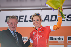 Amy Pieters takes the combativity award at Boels Rental Ladies Tour Prologue a 4.3 km individual time trial in Wageningen, Netherlands on August 29, 2017. (Photo by Sean Robinson/Velofocus)
