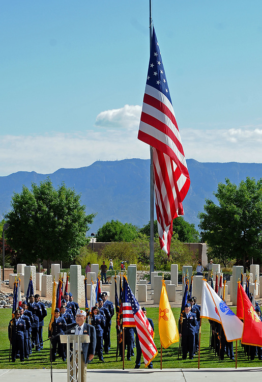jt052917g/ a sec/jim thompson/The start of the Memorial Day Ceremony held at the New Mexico Veteran's Memorial. Monday May. 29, 2017. (Jim Thompson/Albuquerque Journal)