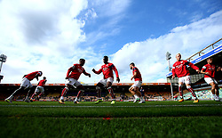 Bristol City warm up at Norwich City - Mandatory by-line: Robbie Stephenson/JMP - 23/09/2017 - FOOTBALL - Carrow Road - Norwich, England - Norwich City v Bristol City - Sky Bet Championship