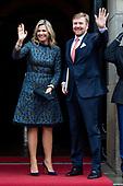 Nieuwjaarsontvangst koning en koningin voor Nederlandse genodigden