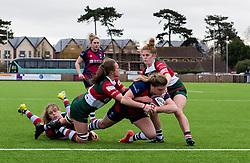 Sarah Bern of Bristol Bears Women opens the scoring for Bristol - Mandatory by-line: Paul Knight/JMP - 11/01/2020 - RUGBY - Shaftesbury Park - Bristol, England - Bristol Bears Women v Firwood Waterloo Women - Tyrrells Premier 15s