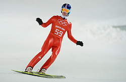 06-02-2014 SCHANSSPRINGEN: OLYMPIC GAMES: SOTSJI<br /> Training Schansspringen op het Russki Gorki Jumping Center / Marinus Kraus GER<br /> ©2014-FotoHoogendoorn.nl<br />  / Sportida