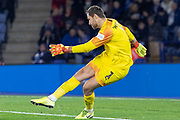 David Marshall (1) during the The FA Cup match between Leicester City and Wigan Athletic at the King Power Stadium, Leicester, England on 4 January 2020.