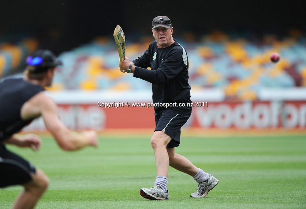 New Zealand Cricket coach John Wright ahead of the first cricket test in Brisbane tomorrow. Wednesday 30 November 2011. Photo: Andrew Cornaga/Photosport.co.nz