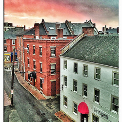"Ladd Street in Portsmouth, New Hampshire. iPhone photo - suitable for print reproduction up to 8"" x 12""."