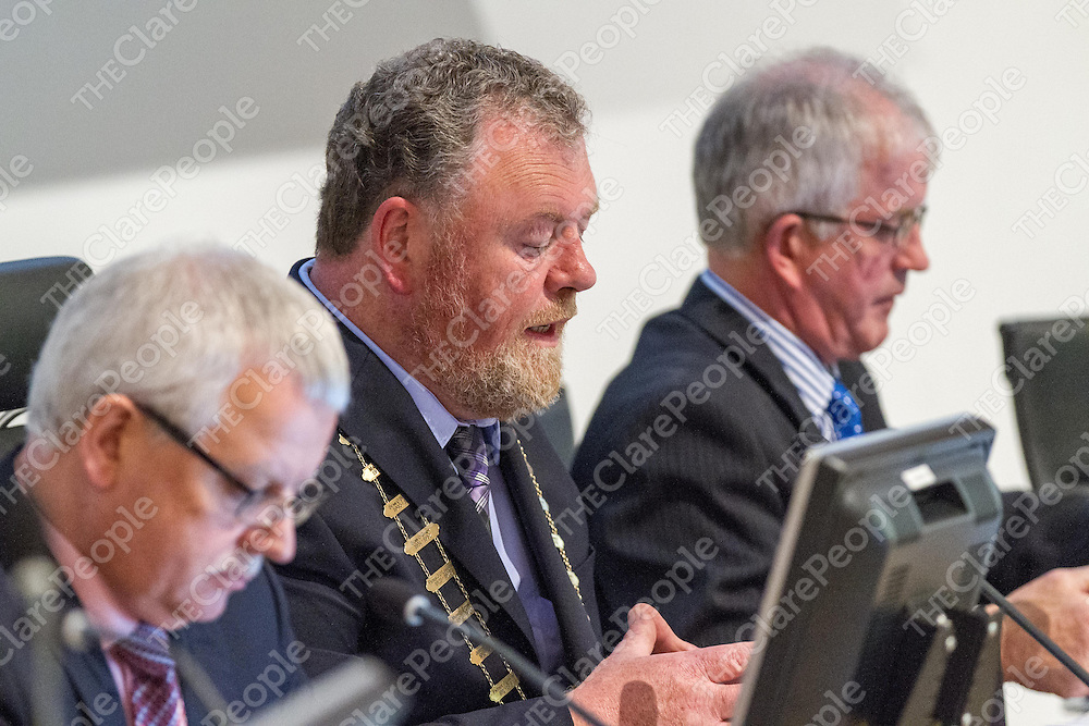 Cllr. Joe Arkin at the 1st Meeting of the Clare Co Council