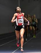 Feb 25, 2017; Seattle, WA, USA; Olivia Baker of Stanford wins the women's 800m in 2:03.41 during the MPSF Indoor Championships at the Dempsey Indoor.