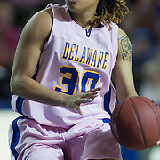 02/05/12 Newark DE: Delaware Junior Guard #30 Trumae Lucas attempts to drives the lane during a Colonial Athletic Association game against the VCU Lady Rams, Feb. 5, 2012 at the Bob carpenter center in Newark Delaware.<br /> <br /> Special to The News Journal/SAQUAN STIMPSON