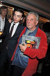Left to right, SASCHA BAILEY and his father DAVID BAILEY at a dinner to celebrate the 30th anniversary of Le Caprice, Arlington Street, London SW1 on 4th October 2011.