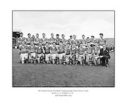 All Ireland Senior Football Championship Final, 25.09.1955, 09.25.1955, 25th September 1955, Kerry 00-12 Dublin 01-06, 25091955AISFCF,..Kerry, Back row from left, Ned Fitzgerald (sub), Micksie Palmer, Sean Murphy, Ned Roche, Jerome O'Shea, John Cronin, Michael Murphy, Tom Moriarty, Bobbie Buckley (sub), Tadgh Lyne, Jim Brosnan, John Joe Sheehan, front row from left, Gerald O'Sullivan (sub), Colm Kennelly (sub), Denis O'Shea, Johnny Culloty, Paudie Sheehy, John Dowling (captain), Garry Mahony, Donal O'Neill (sub), Tom Costello, Dermot Dillon )sub), Dan McAuliffe (sub), Tadgh Crowley, Kerry Co Secretary,