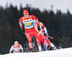 01.03.2019, Seefeld, AUT, FIS Weltmeisterschaften Ski Nordisch, Seefeld 2019, Langlauf, Herren, 4x10 km Staffel, im Bild Alexander Bolshunov (RUS) // Alexander Bolshunov of Russian Federation during the men's cross country 4x10 km relay competition of FIS Nordic Ski World Championships 2019. Seefeld, Austria on 2019/03/01. EXPA Pictures © 2019, PhotoCredit: EXPA/ Stefan Adelsberger
