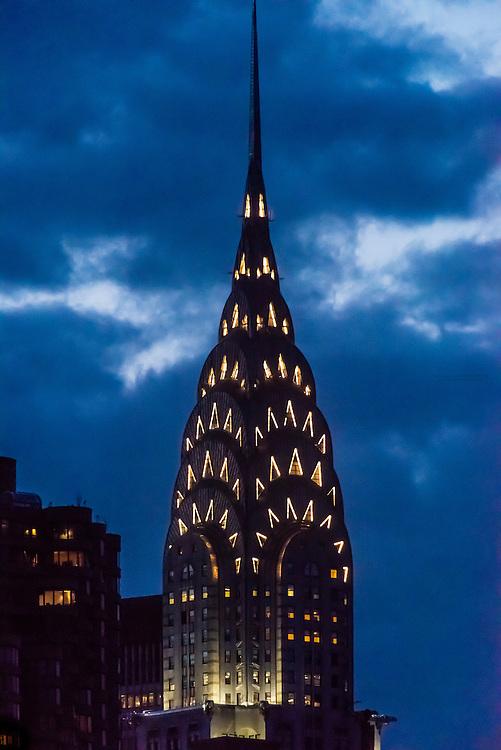 The iconic art deco Chrysler Building, New York New York USA.