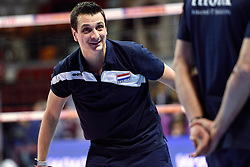 07-01-2016 TUR: European Olympic Qualification Tournament Nederland - Kroatie, Ankara<br /> Nederland verslaat Kroatië met 3-0 en gaat als groepswinnaar de halve finale in / Coach Giovanni Guidetti