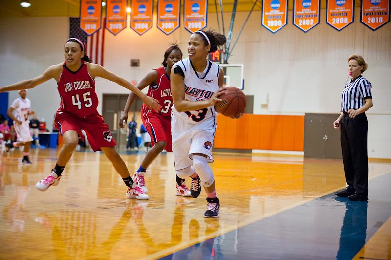 Feb 18, 2012; Morrow, GA, USA; Clayton State womens basketball team against Columbus State at CSU. (Photo by Kevin Liles/kdlphoto.com)