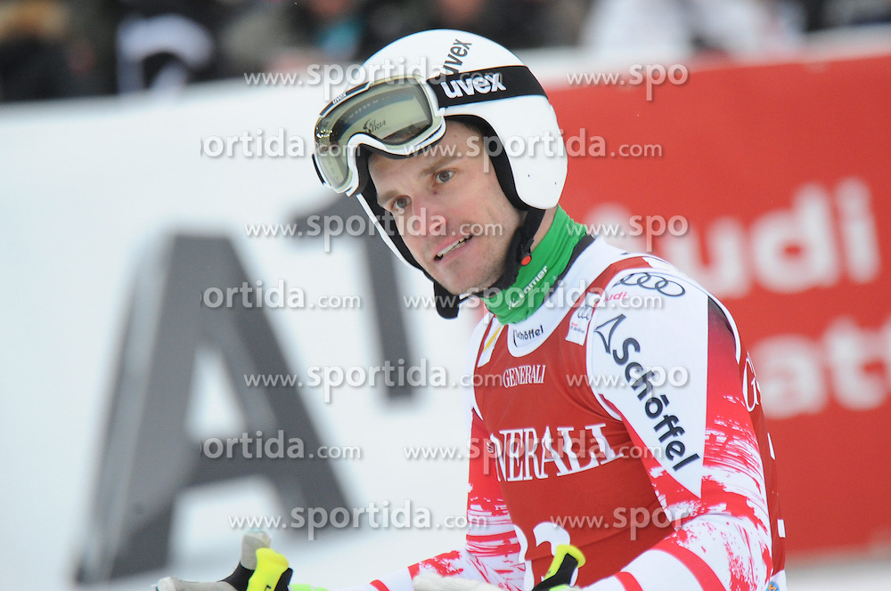 23.01.2015, Streif, Kitzbuehel, AUT, FIS Ski Weltcup, Supercombi Super G, Herren, im Bild Patrick Schweiger (AUT) // Patrick Schweiger of Austria reacts after his run of the men's Super Combined Super-G of Kitzbuehel FIS Ski Alpine World Cup at the Streif Course in Kitzbuehel, Austria on 2015/01/23. EXPA Pictures © 2015, PhotoCredit: EXPA/ Erich Spiess